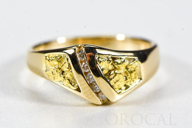 "Gold Nugget Ladies Ring ""Orocal"" RL1064DN Genuine Hand Crafted Jewelry - 14K Casting"