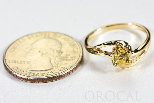 "Gold Nugget Ladies Ring ""Orocal"" RL696N Genuine Hand Crafted Jewelry - 14K Casting"