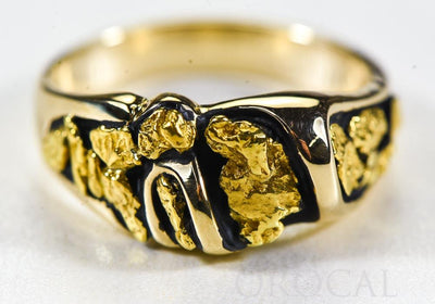 "Gold Nugget Ladies Ring ""Orocal"" RL487 Genuine Hand Crafted Jewelry - 14K Casting"
