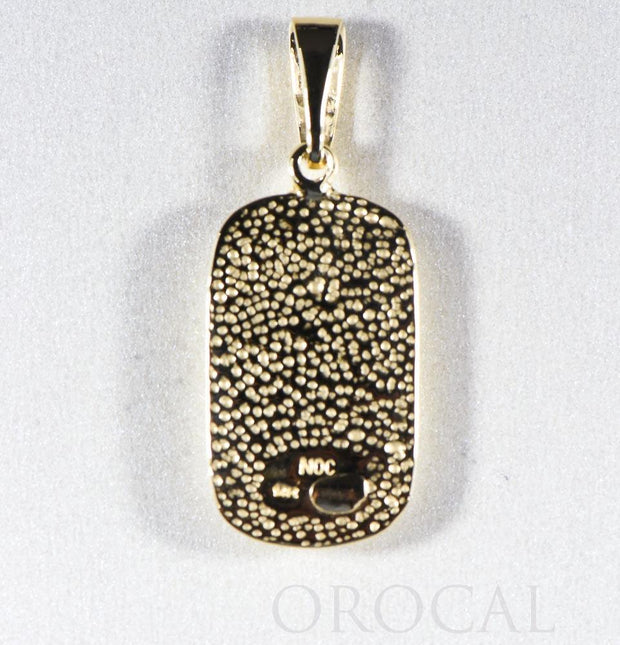 "Gold Quartz Pendant ""Orocal"" PN851DQ Genuine Hand Crafted Jewelry - 14K Gold Yellow Gold Casting"