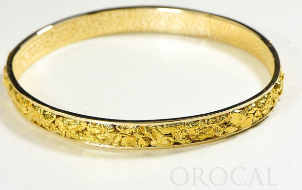 "Gold Nugget Bracelet ""Orocal"" BB8MM Genuine Hand Crafted Jewelry - 14K Gold Casting"