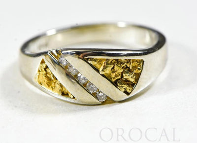 "Gold Nugget Ladies Ring ""Orocal"" RL1068DNW Genuine Hand Crafted Jewelry - 14K Casting"