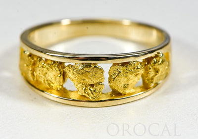 "Gold Nugget Men's Ring ""Orocal"" RM125/8MM Genuine Hand Crafted Jewelry - 14K Casting"