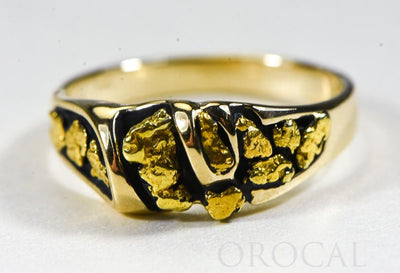 "Gold Nugget Men's Ring ""Orocal"" RM487 Genuine Hand Crafted Jewelry - 14K Casting"