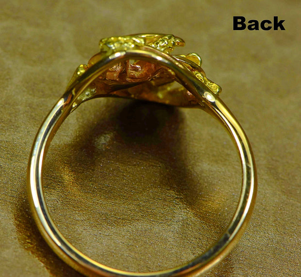 "Gold Nugget Ladies Ring ""Orocal"" RL254 Genuine Hand Crafted Jewelry - 14K Casting"
