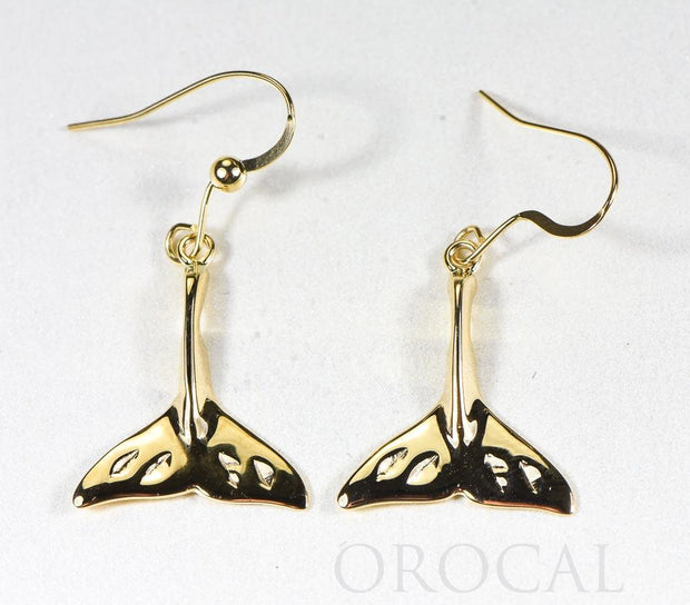 "Gold Casted Whale Tail Earrings ""Orocal"" EWT101XN/WD Genuine Hand Crafted Jewelry - 14K Gold Casting"