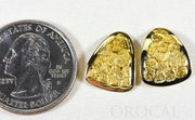"Gold Nugget Earrings ""Orocal"" EH25 Genuine Hand Crafted Jewelry - 14K Gold Casting"