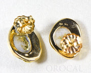 "Gold Quartz Earrings ""Orocal"" ESC126Q Genuine Hand Crafted Jewelry - 14K Gold Yellow Gold Casting"