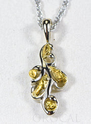"Gold Nugget Pendant ""Orocal"" PN284NWX Genuine Hand Crafted Jewelry - 14K Gold White Gold Casting"