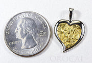 "Gold Nugget Pendant ""Orocal"" PH12W Genuine Hand Crafted Jewelry - 14K Gold White Gold Casting"
