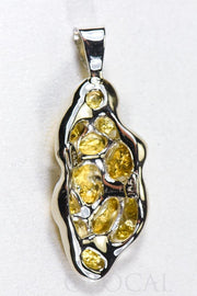 "Gold Nugget Pendant ""Orocal"" PN305NWX Genuine Hand Crafted Jewelry - 14K Gold White Gold Casting"