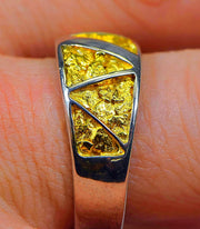 "Gold Nugget Men's Ring ""Orocal"" RM883NSS Genuine Hand Crafted Jewelry"