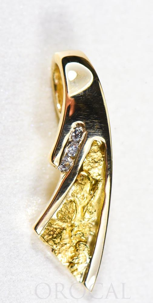"Gold Nugget Pendant ""Orocal"" PDL129D045NX Genuine Hand Crafted Jewelry - 14K Gold Yellow Gold Casting"