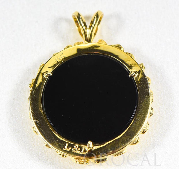 "Gold Nugget Pendant ""Orocal"" PAJ029NBJ Genuine Hand Crafted Jewelry - 14K Gold Yellow Gold Casting"