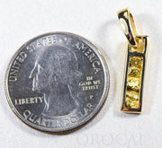 "Gold Nugget Pendant ""Orocal"" PN1099N Genuine Hand Crafted Jewelry - 14K Gold Yellow Gold Casting"