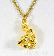 "Gold Nugget Gold Miner Charm ""Orocal"" CGML Genuine Hand Crafted Jewelry - 14K Gold Yellow Gold Casting"