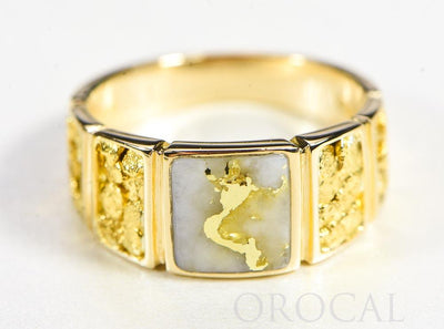 "Gold Quartz Ladies Ring ""Orocal"" RL1046NQ Genuine Hand Crafted Jewelry - 14K Gold Casting"