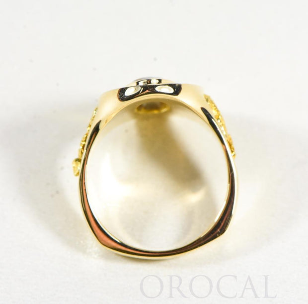 "Gold Quartz Ladies Ring ""Orocal"" RL1049DQ Genuine Hand Crafted Jewelry - 14K Gold Casting"