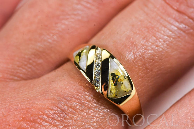 "Gold Quartz Ladies Ring ""Orocal"" RL1068DQ Genuine Hand Crafted Jewelry - 14K Gold Casting"
