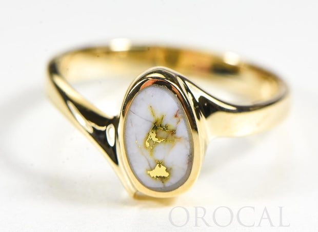 "Gold Quartz Ladies Ring ""Orocal"" RL1027Q Genuine Hand Crafted Jewelry - 14K Gold Casting"