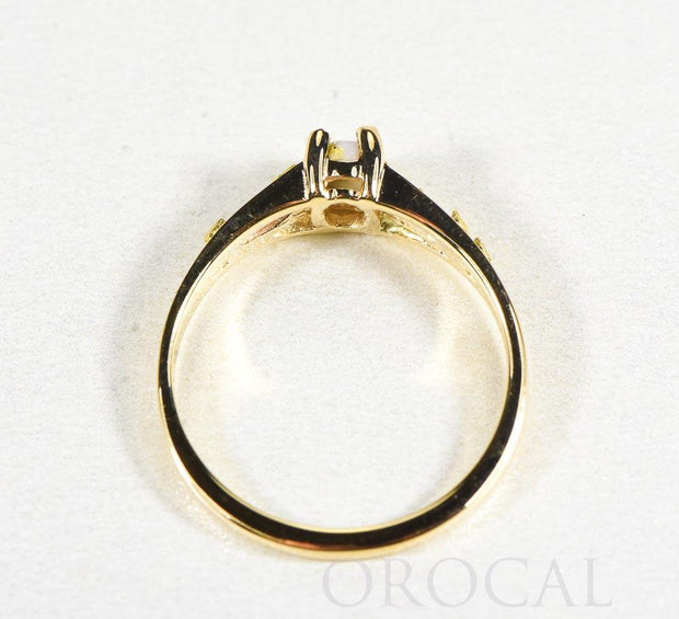 "Gold Quartz Ladies Ring ""Orocal"" RL1024Q Genuine Hand Crafted Jewelry - 14K Gold Casting"