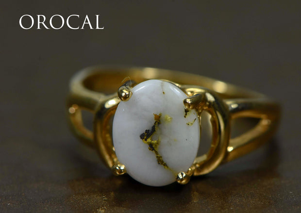 "Gold Quartz Ring ""Orocal"" RL1023Q Genuine Hand Crafted Jewelry - 14K Gold Casting"