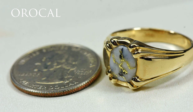 "Gold Quartz Ring ""Orocal"" RM791Q Genuine Hand Crafted Jewelry - 14K Gold Casting"