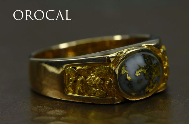 "Gold Quartz Ring ""Orocal"" RM73Q Genuine Hand Crafted Jewelry - 14K Gold Casting"