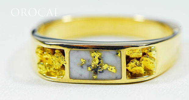 "Gold Quartz Ring ""Orocal"" RM656NQ Genuine Hand Crafted Jewelry - 14K Gold Casting"