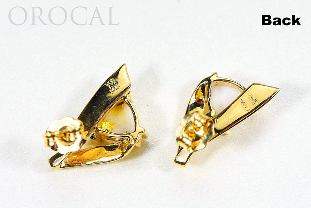 "Gold Quartz Earrings ""Orocal"" EDL77Q Genuine Hand Crafted Jewelry - 14K Gold Casting"