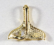 "Gold Quartz Pendant Whales Tail ""Orocal"" PDLWT13QX Genuine Hand Crafted Jewelry - 14K Gold Yellow Gold Casting"