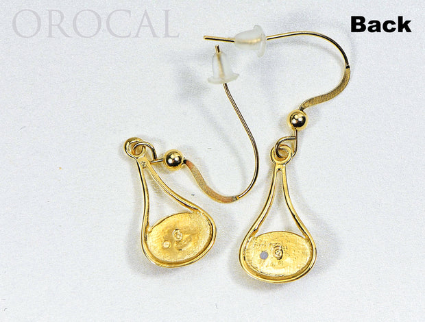 "Gold Quartz Earrings ""Orocal"" EN871Q/WD Genuine Hand Crafted Jewelry - 14K Gold Casting"