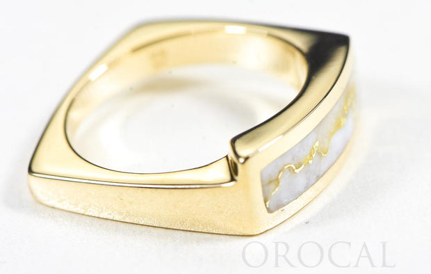 "Gold Quartz Ring ""Orocal"" RL837Q Genuine Hand Crafted Jewelry - 14K Gold Casting"