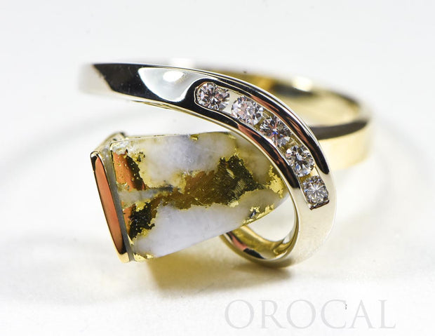"Gold Quartz Ring ""Orocal"" RLDL34SDQ Genuine Hand Crafted Jewelry - 14K Gold Casting"