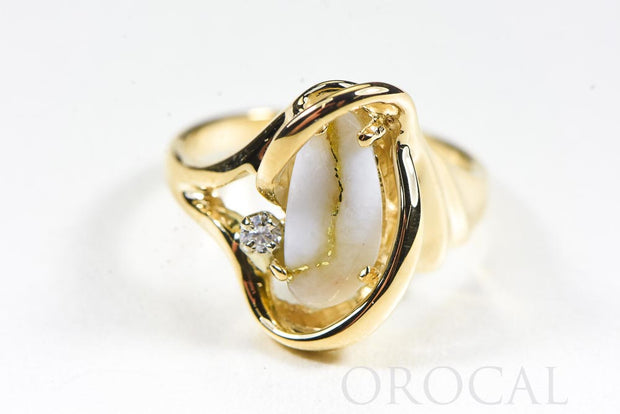 "Gold Quartz Ring ""Orocal"" RL784DQ Genuine Hand Crafted Jewelry - 14K Gold Casting"