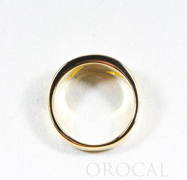 "Gold Quartz Ring ""Orocal"" RL968D18NQ Genuine Hand Crafted Jewelry - 14K Gold Casting"
