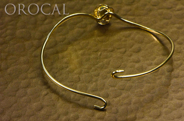 "Gold Quartz Bracelet ""Orocal"" BBWN805Q Genuine Hand Crafted Jewelry - 14K Gold Casting"