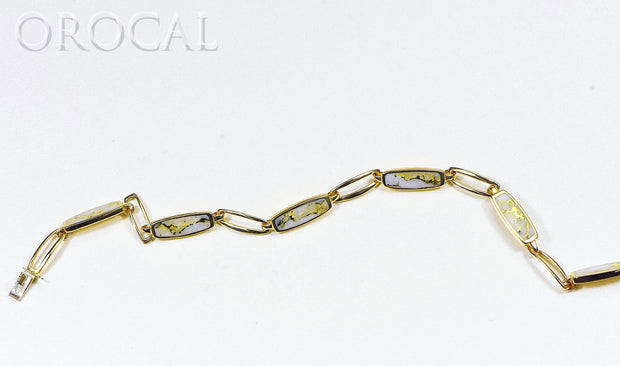 "Gold Quartz Bracelet ""Orocal"" BDLOV5LQC89 Genuine Hand Crafted Jewelry - 14K Gold Casting"