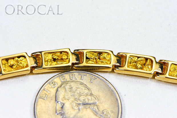 "Gold Nugget Bracelet ""Orocal"" B6MM14L Genuine Hand Crafted Jewelry - 14K Gold Casting"