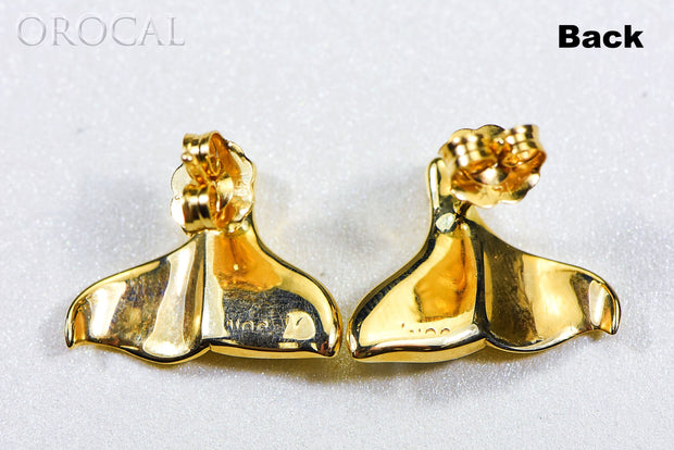 "Gold Quartz Earrings ""Orocal"" EDLWT12Q Genuine Hand Crafted Jewelry - 14K Gold Casting"