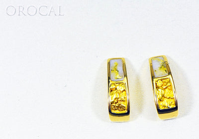 "Gold Quartz Earrings ""Orocal"" EH41NQ Genuine Hand Crafted Jewelry - 14K Gold Casting"