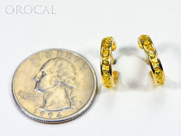 "Gold Nugget Earrings ""Orocal"" EH13 Genuine Hand Crafted Jewelry - 14K Gold Casting"