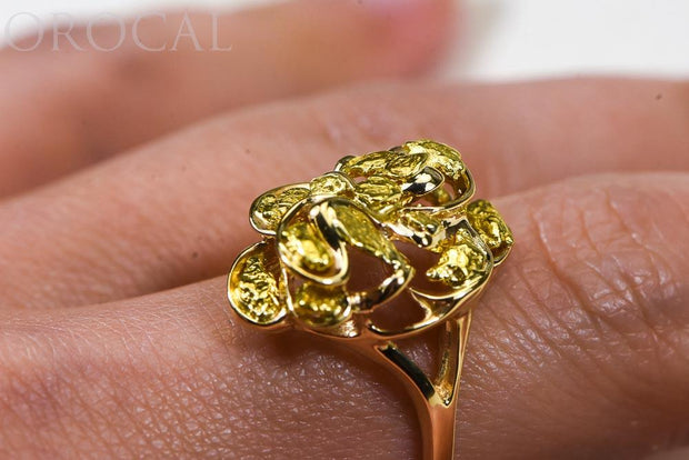 "Gold Nugget Ladies Ring ""Orocal"" RL464 Genuine Hand Crafted Jewelry - 14K Casting"