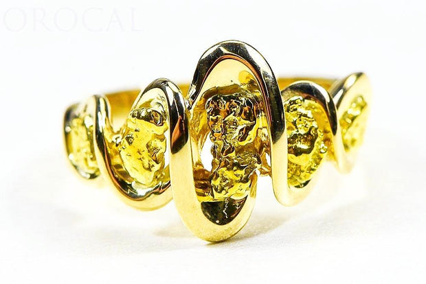 "Gold Nugget Ladies Ring ""Orocal"" RL343 Genuine Hand Crafted Jewelry - 14K Casting"