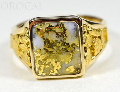 "Gold Quartz Ring ""Orocal"" RM760Q Genuine Hand Crafted Jewelry - 14K Gold Casting"