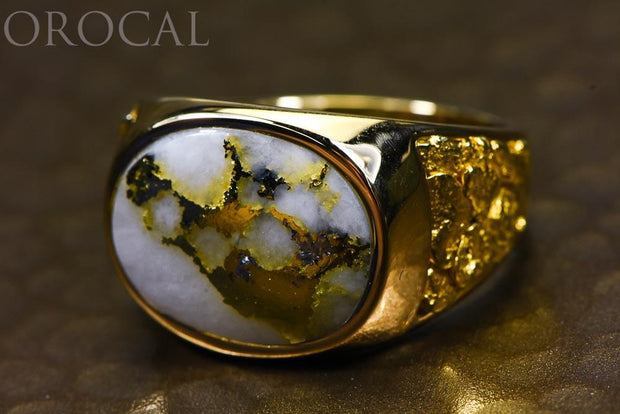 "Gold Quartz Ring ""Orocal"" RM802Q Genuine Hand Crafted Jewelry - 14K Gold Casting"