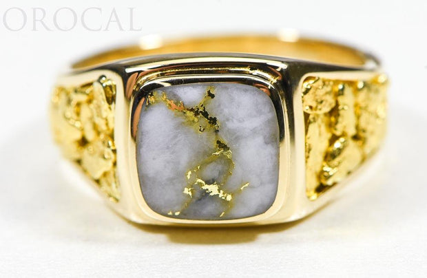 "Gold Quartz Ring ""Orocal"" RM774NQ Genuine Hand Crafted Jewelry - 14K Gold Casting"