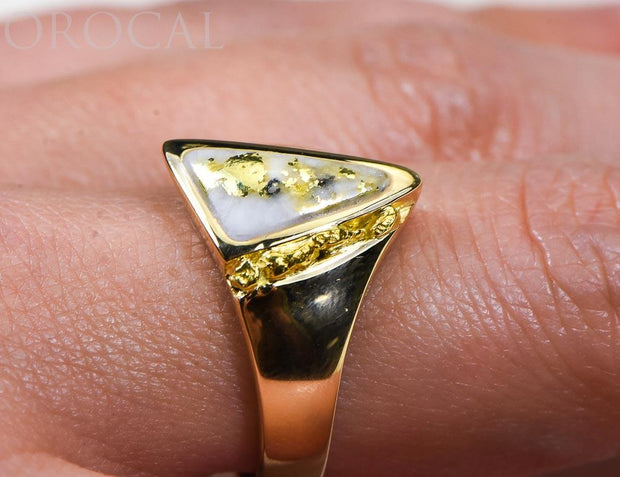 "Gold Quartz Ring ""Orocal"" RLL1024NQ Genuine Hand Crafted Jewelry - 14K Gold Casting"