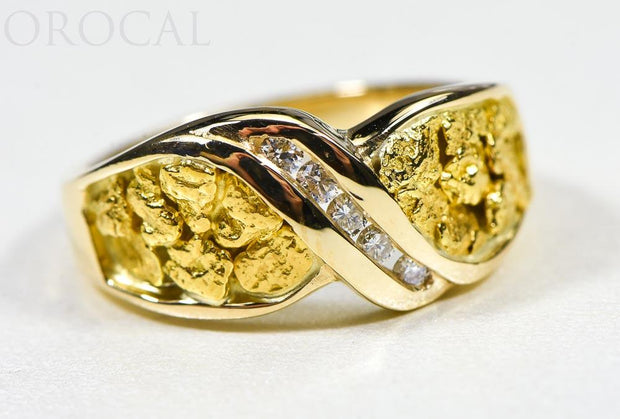 "Gold Nugget Ladies Ring ""Orocal"" RL782D15N Genuine Hand Crafted Jewelry - 14K Casting"
