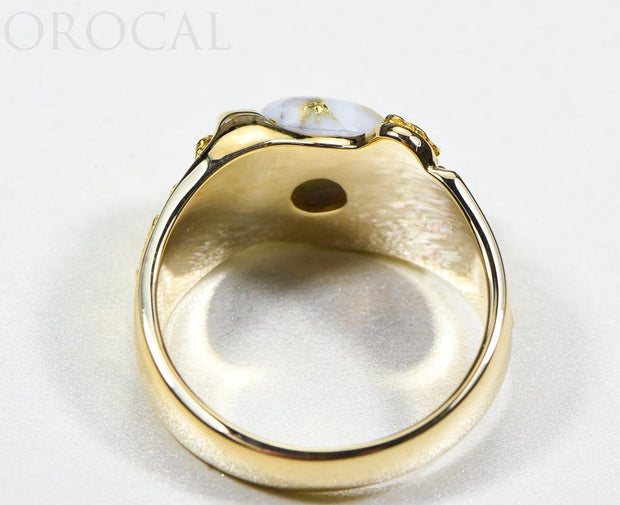 "Gold Quartz Ring ""Orocal"" RM490Q Genuine Hand Crafted Jewelry - 14K Gold Casting"